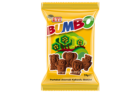 Eti Bumbo Cocoa Biscuit with Orange Flavoured 59 GR