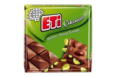 Eti Çikolata Milk Chocolate with Whole Pistachio