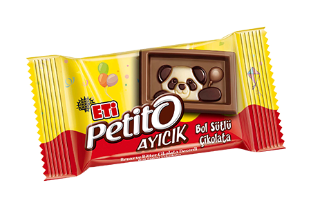 Eti Petito Ayıcık White and Bitter Chocolate Patterned Rich Milk Chocolate