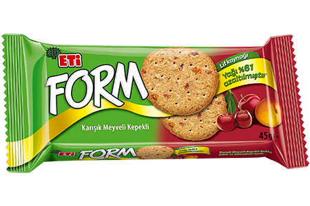 Eti Form Bran Biscuits with Mixed Fruit Light Product
