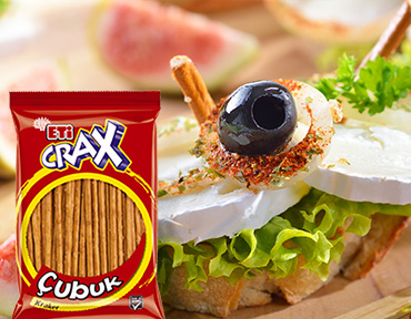 Cheese Hors d'Oeuvres with ETİ Crax Plain Sticks