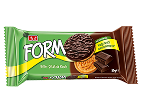 Form Chocolate Covered Biscuit with Fibre