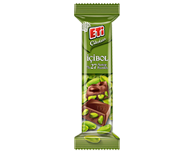 Eti Çikolata Milk Chocolate with 27% Pistachio