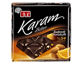 Eti Karam with 54% Cocoa and Orange & Almonds