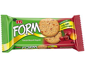 Form Bran Biscuits with Mixed Fruits