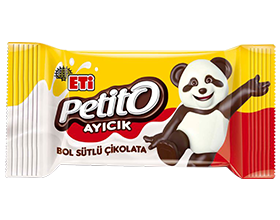 Petito Ayıcık White and Bitter Chocolate Patterned Rich Milk Chocolate