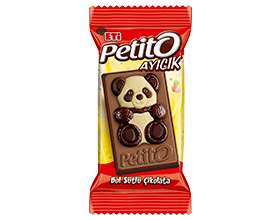 Petito Ayıcık White and Bitter Chocolate Patterned Rich Milk Chocolate 18 Gr.