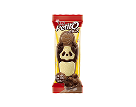 Petito Ayıcık White and Bitter Chocolate Patterned Rich Milk Chocolate with Corn and Wheat Flakes